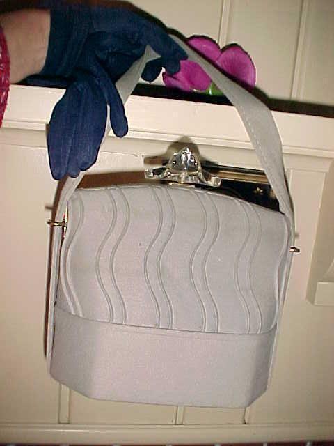 Vintage 50s Purse LUCITE TOP Gray Unique Shape Sturdy Good inside & Navy Gloves | Clothing, Shoes & Accessories, Vintage, Vintage Accessories | eBay!