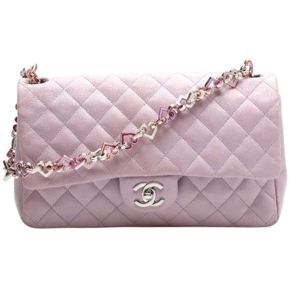 Pre-owned Purple Chanel Shoulder Bag found on Polyvore