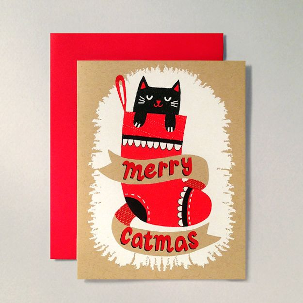 Merry Catmas | 40 Of The Cutest Holiday Cards You Ever Did See