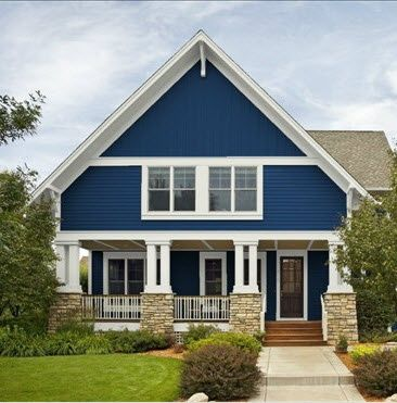 Pictures of blue houses and cottages blue cottage house - House paint colors exterior photos ...