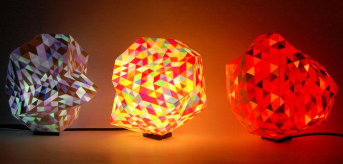 Color Dazzle colour 3D printed lamps by Corneel Cannaerts