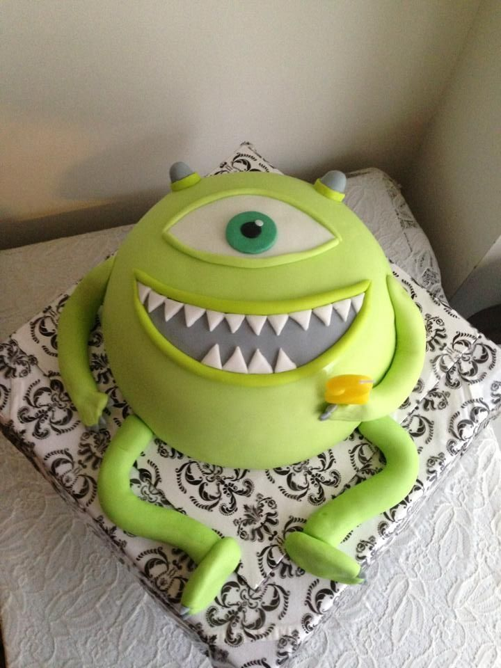 monsters inc Baby Shower    Monsters, Inc (Mike Wazowski) birthday cake. ...   From the Kitchen