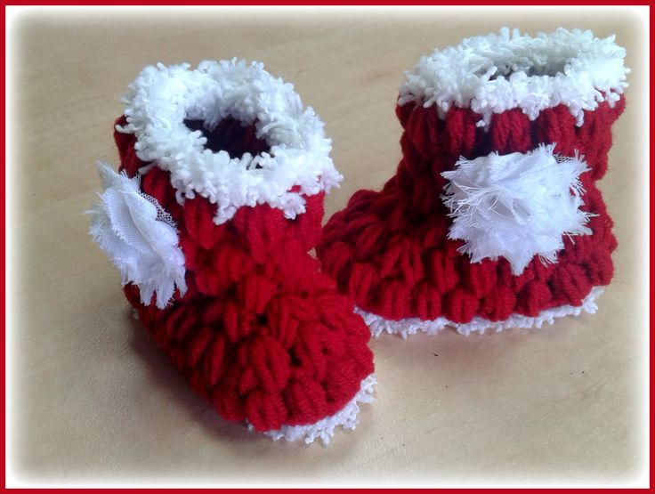 my little crochet booties for the cold winter months.  www.babybasket.etsy.com