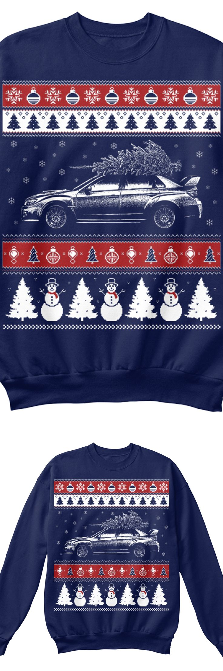 Subaru WRX Christmas Sweater! Exclusive design you can only get here. Comes in 3 colors, order yours before they are gone!
