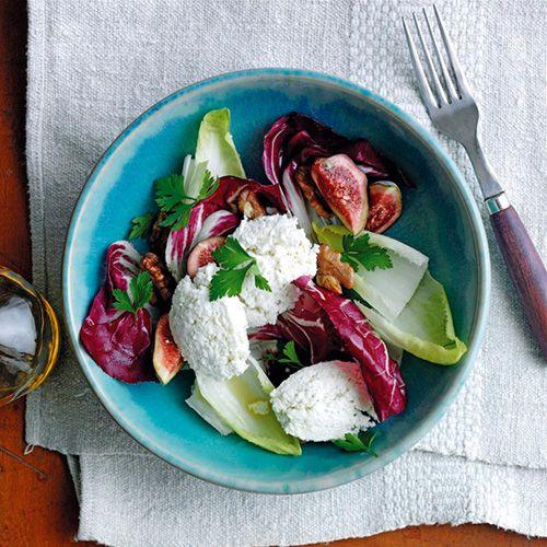 Salade met geitenkwark