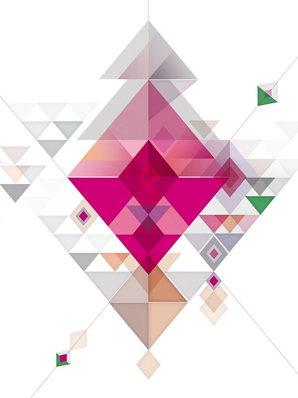 Abstract illustrations by jD style, via Behance.