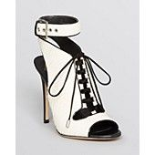 B Brian Atwood Lace Up Open Toe Sandals - Lodosa High Heel