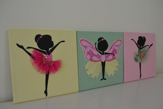 Hand Painted dancing Ballerinas on Etsy, $48.00