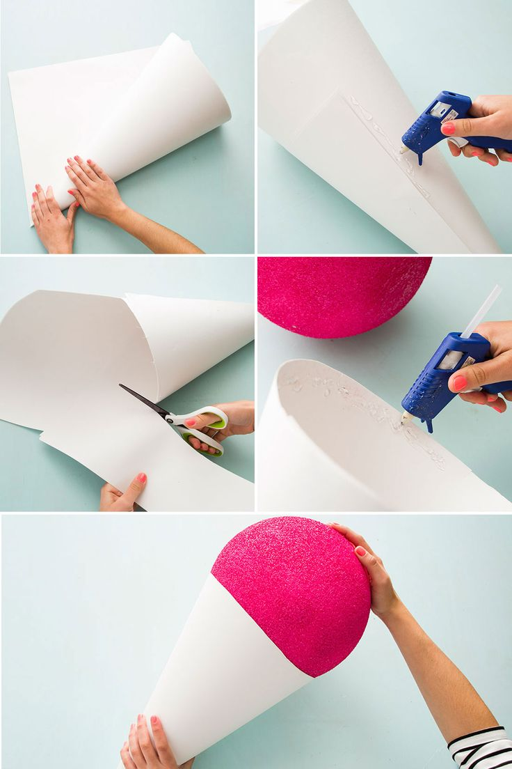 Here's how to make a giant snow cone prop.