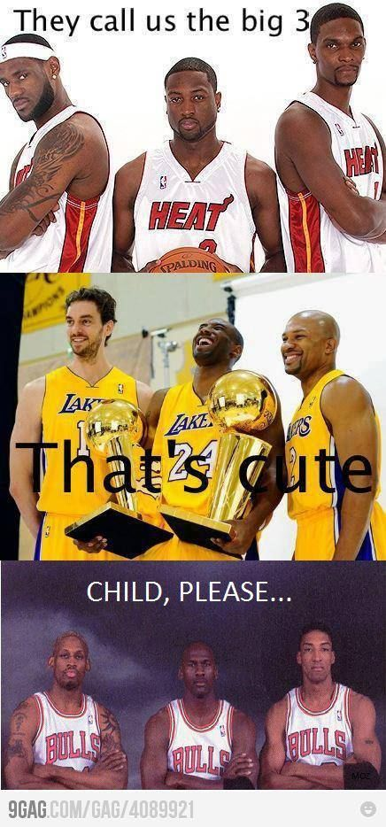 This is funny, because the Lakers have it all over them! That's why they are laughing!
