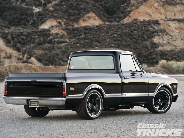 1968 Chevy C10 Rear View beautiful paint, ride height, and wheel size