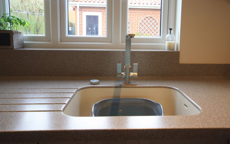 Seamless sink effect, this sink has no joins or ridges, so this sink will be easy to keep clean.