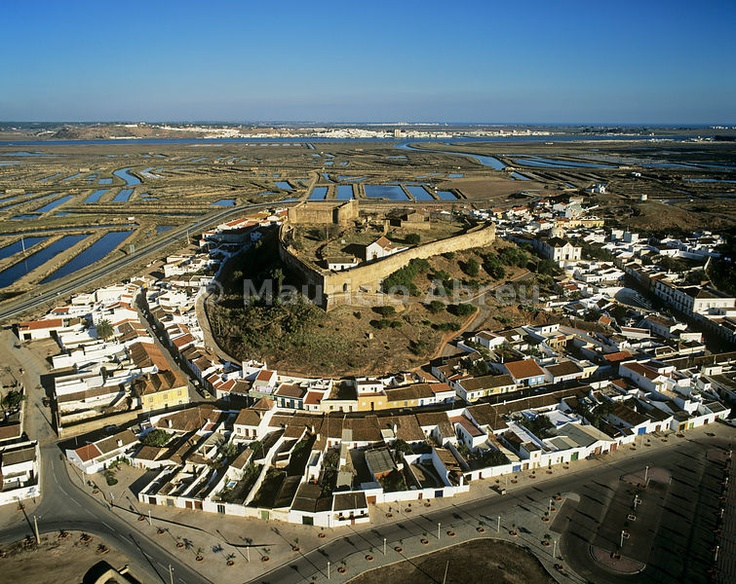 Aerial view of Castro Marim and the 13th century #Castle, Algarve, Portugal