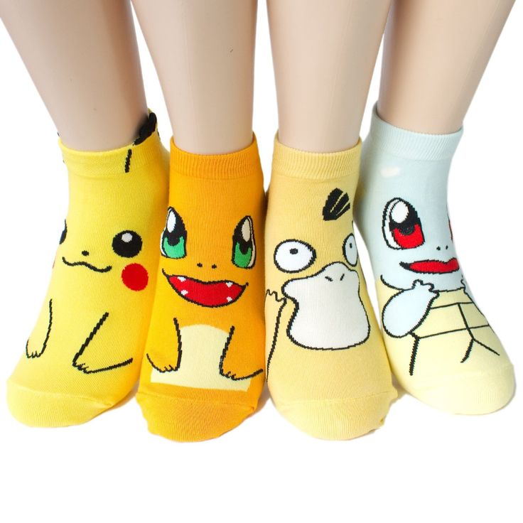 Socksense Animation Series Women's Socks Made in Korea (4pairs (Pokemon)) at Amazon Women's Clothing store: