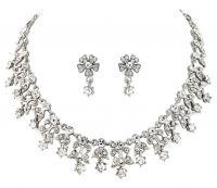 Perle Kjede, kjede med krystallstener, krystallkjede, kjede til Brud, Perlekjede til bruden, perlekjede til brud, brudeperlekjede