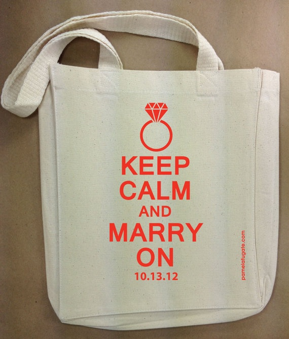 Cute Tote Bags for your Wedding Day. Give them to your Guests or your Bridal Party.