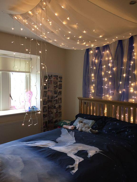 20 Beautiful Fairy Lighting Ideas For Kids Room Decor Bedroom Lighting Diy Fairy Lights Bedroom Bedroom Lighting