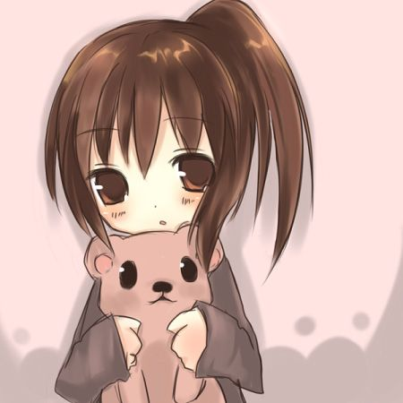 anime girl an teddy bear | Anime girl | Pinterest | Chibi ...
