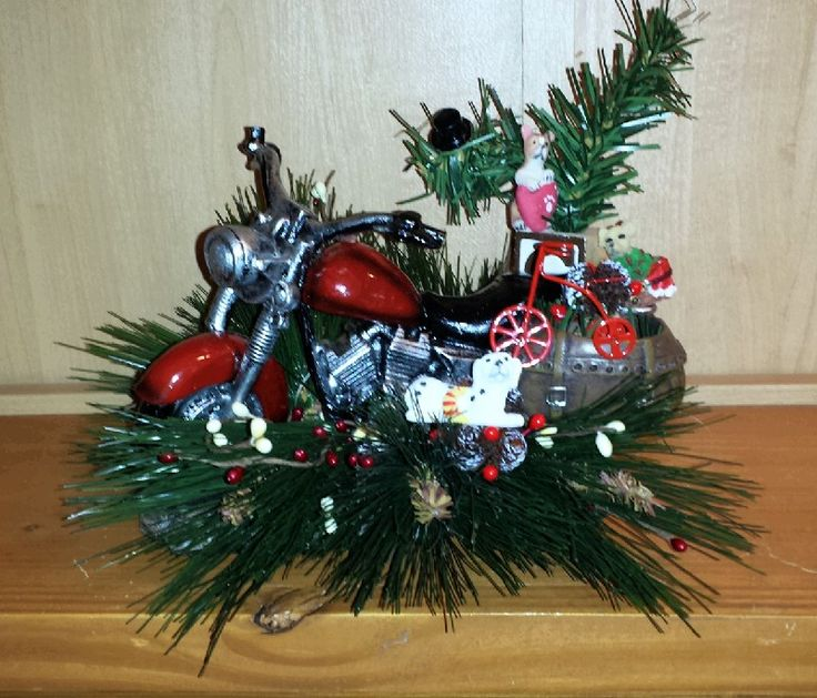 50 best images about biker christmas on pinterest harley for Decoration maison harley davidson