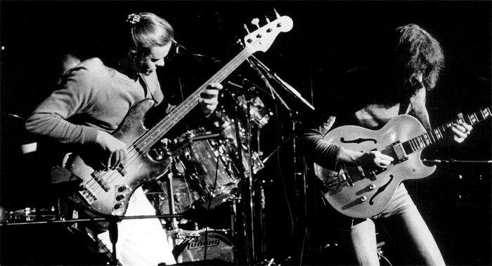 Jaco Pastorius and Pat Metheny at the Newport Jazz Festival 1979.
