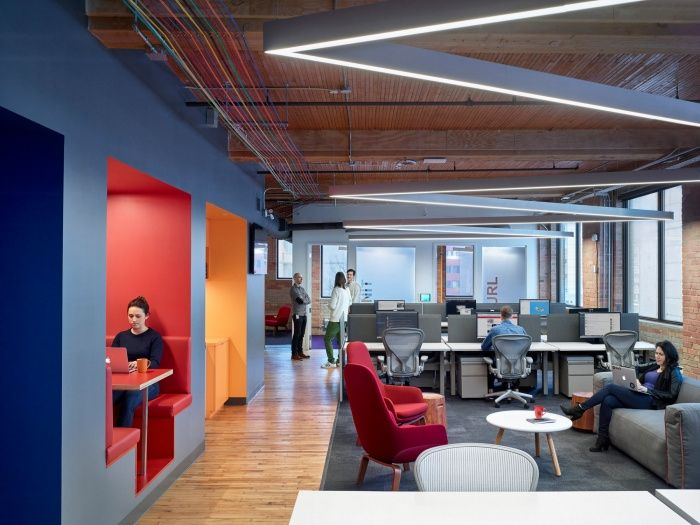 Open Offices At Slack Offices Toronto Office Interior Design Commercial And Office Architecture Office Interiors