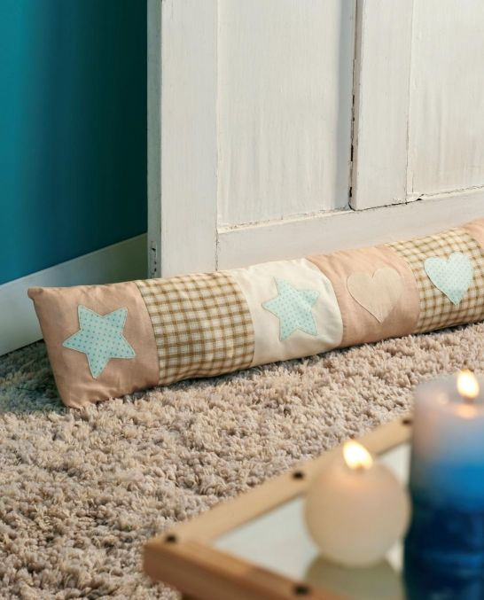 Patchwork draft excluder