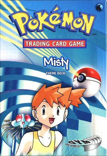 Pokemon Trading Card Game Gym Heroes Theme Deck Misty. These decks contain a combination of cards from the Base Set 2 and Gym Heroes expansions: 28 Gym Heroes energy cards; 8 Base set 2 cards, with some duplicates; 24 gym Heroes cards, with some duplicates, for a total of 60 cards.