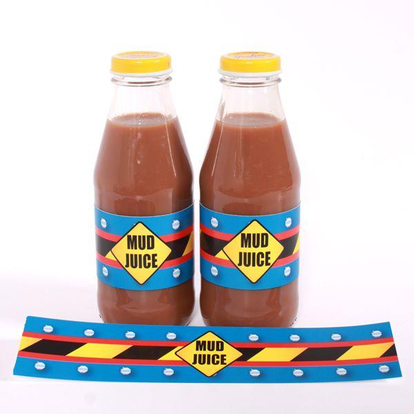 """Mud Juice"" Drink Labels"