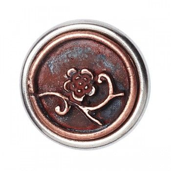 Noosa petite Chunk Victorian Button Myosotis copper
