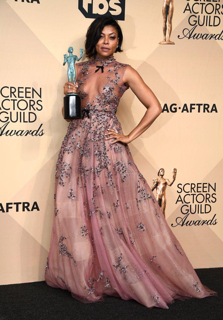 SAG Awards 2017 - Taraji P. Henson - Cosmopolitan.com