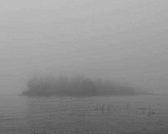 Fog Steveston British Columbia Black and White by LumierePhotos, $30.00