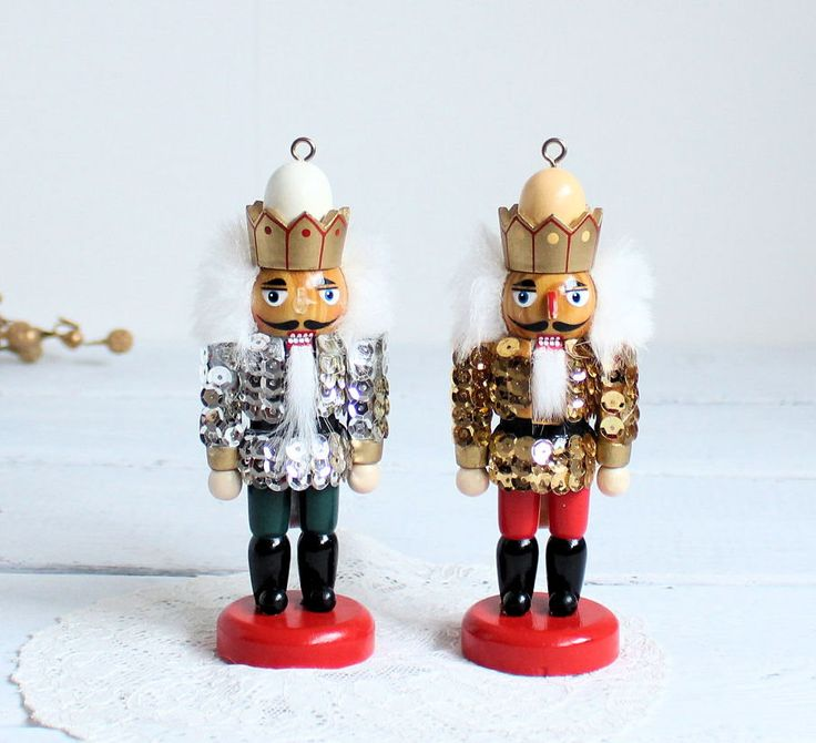 "5.5"" Vintage Nutcrackers, German Souvenir, Vintage Wooden Figurines ,Nutcracker Kings,Nutcrackers,Nursery Decor,Child's Room Toys, Ornaments by TreasuresByJana on Etsy"