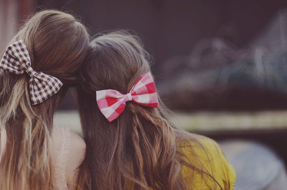 Vintage Red Bow Hair Clip /// Jules by PixelandHank on Etsy, $8.00