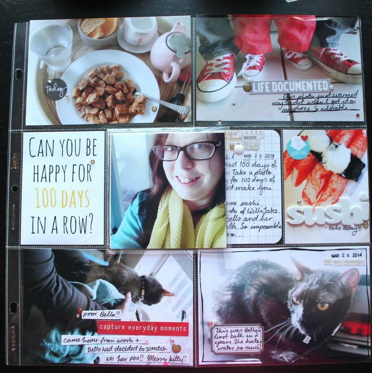 Week 13 Project Life layout and process video by Renae Finlayson, using Polly! Scrap Kits April 2014 April Showers PL Kit