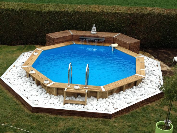 25 best ideas about amenagement piscine hors sol on - Piscine hors sol octogonale bois ...