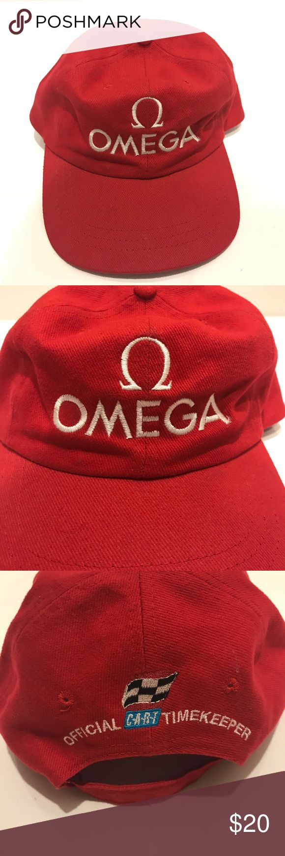 Vintage Omega watch Racing trucker style hat Cool vintage hat, great for any watch collector. Has more of that old school trucker style to it rather than a baseball cap. Overall in good condition with no major damage. Vintage Accessories Hats