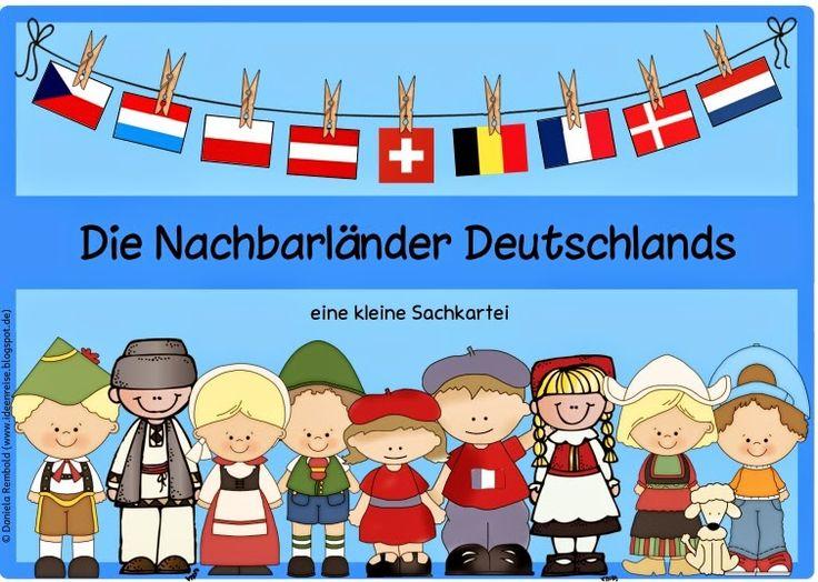 """Ideenreise: Kleine Sachkartei """"Die Nachbarländer Deutschlands""""..."""