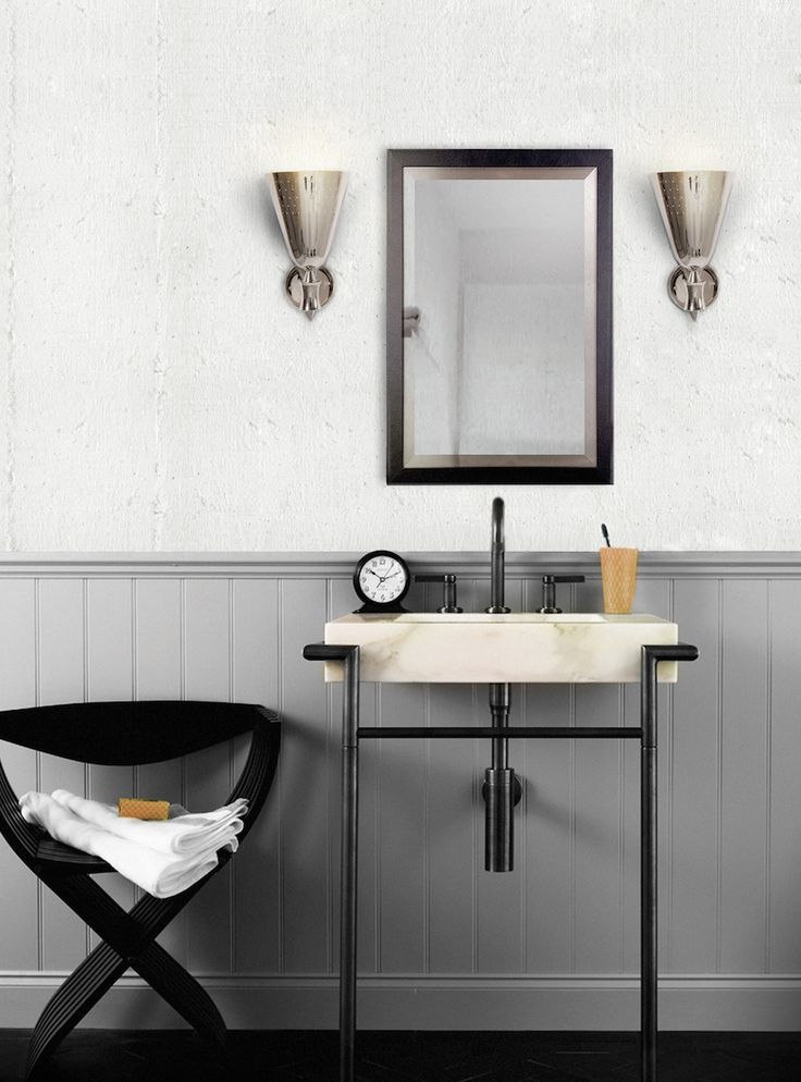 Charles wall light is a fine decorative piece with a great visual effect, just perfect for any industrial decor bathroom. 10 Lighting Design Ideas to Embellishing your Industrial Bathroom ➤To see more Luxury Bathroom ideas visit us at www.luxurybathrooms.eu #luxurybathrooms #homedecorideas #bathroomideas @BathroomsLuxury