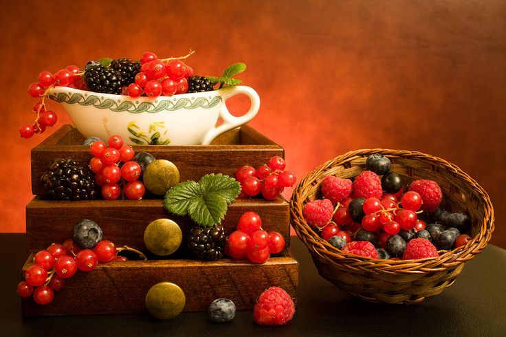 Still Life With Berries Photograph  - Still Life With Berries Fine Art Print ╰⊰✿ . •.¸☆ ☆¸.• Featured: :: D I M E N S I O N S :: •.¸☆ ☆¸.• . ✿⊱╮ http://fineartamerica.com/groups/dimensions.html