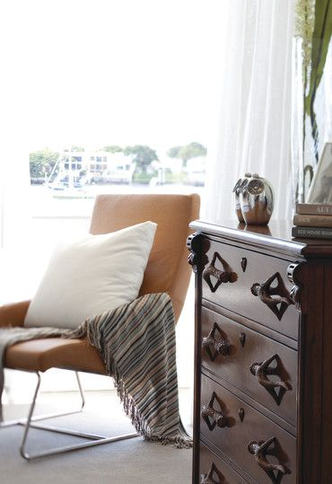 Add the perfect reading chair to your bedroom to make it complete. #bedroom #homeinspiration