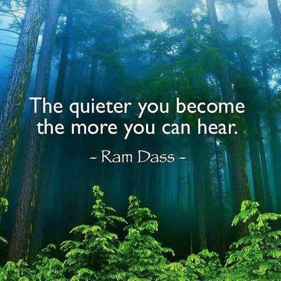 The quieter you become the more you can hear ~ Ram Dass