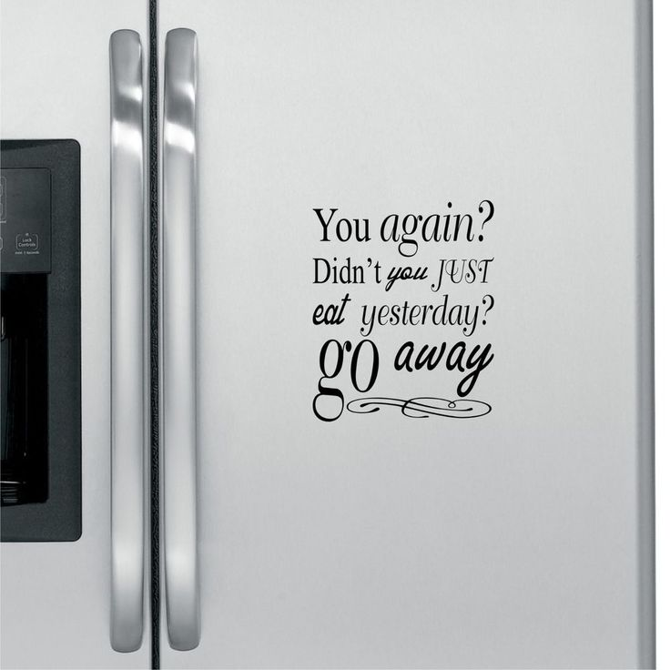 You again fridge decal