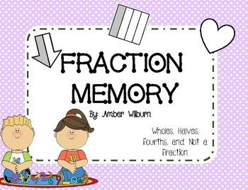 Super cute and fun fraction memory game. Students have to identify the fraction while matching pairs