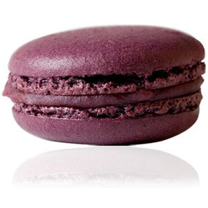 Merlot Macaron: Dyed dark purple w/ Dark Chocolate Merlot Ganache.