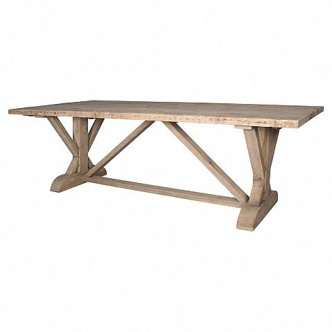 Country kitchen dining table with triangular H bar - Trade Secret