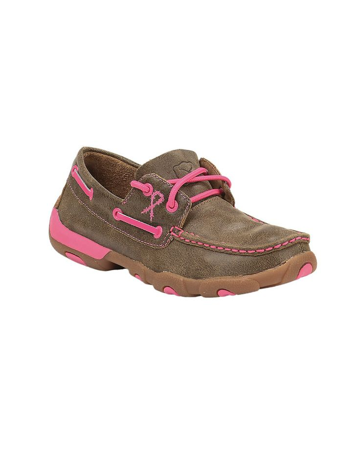 Twisted X Tough Enough To Wear Pink Women's Bomber Brown Lace Up Casual Shoes   Cavender's