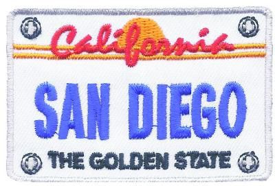 San Diego Patch - California License Plate, The Golden State