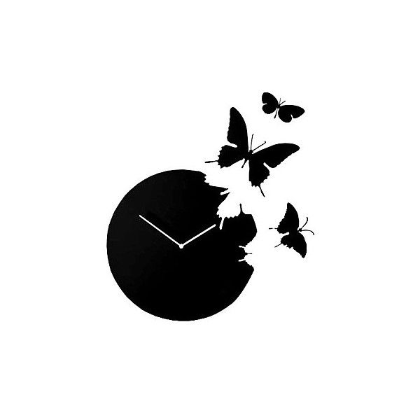 Butterfly Acrylic Mute Wall Clock ($46) ❤ liked on Polyvore featuring home, home decor, clocks, array0x132d0300, acrylic clock, butterfly wall clock, butterfly clock and butterfly home decor