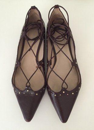 Kaufe meinen Artikel bei #Kleiderkreisel http://www.kleiderkreisel.de/damenschuhe/ballerinas/149538239-massimo-dutti-schuhe-riemchen-ballerinas-37-bordeaux-rot-pumps-gold-nieten-flach