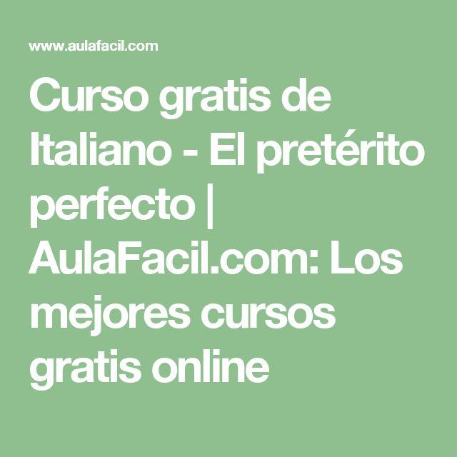 Curso gratis de Italiano - El pretérito perfecto | AulaFacil.com: Los mejores cursos gratis online